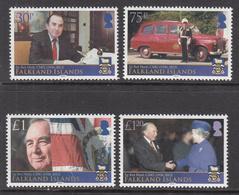 2013 Falkland Islands Rex Hunt Governor Complete Set Of 4 MNH @ FACE VALUE - Falklandeilanden