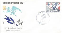 Congo 1981 Brazzaville Crane Bird UPU Postal Day FDC Cover - UPU (Wereldpostunie)