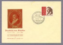 Germany Berlin 1959 FDC Friedrich Von Schiller Poet Writer Dichter - Writers