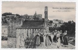 AVIGNON - FOLKLORE - ROUDEAU DES COMTADINES SUR LE PONT D' AVIGNON - N° 4 - CPA NON VOYAGEE - Avignon