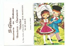 Calendrier 1978 Folklore Régional Costume Normands Couple Normandie Illustrateur Elsi - Calendars