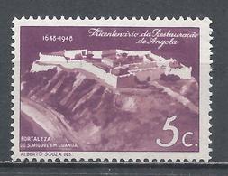 Angola 1948. Scott #305 (MNH) Sao Miguel Fort, Luanda * - Angola