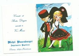 Calendrier 1978 Folklore Et Tradition Régionale Costume D' Alsace  Illustrateur Elsi - Calendars