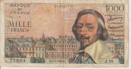 Billet  1.000 Francs  Richelieu - Q.1-7-1954.Q. - N°  77904 -  J.56 - 1871-1952 Gedurende De XXste In Omloop