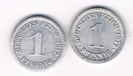 1 PFENNIG 1917 A+ 1917 E DUITSLAND /3810/ - [ 2] 1871-1918 : Empire Allemand