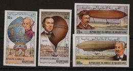 Mauritanie - 1983 - N°Yv. 529 à 531 + PA 215 - Aérostats - Non Dentelés / Imperf. - Neuf Luxe ** / MNH / Postfrisch - Luchtballons