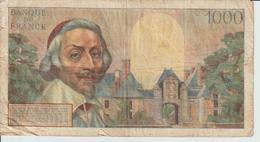 Billet  1.000 Francs  Richelieu - M.2-12-1954.m. - N° 97270 - E.96 - 1871-1952 Antichi Franchi Circolanti Nel XX Secolo