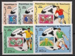 Mauritanie - 1986 - Poste Aérienne PA N°Yv. 238 à 242 - Football World Cup - Neuf Luxe ** / MNH / Postfrisch - Fußball-Weltmeisterschaft