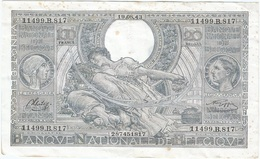 Bélgica - Belgium 100 Francs 19-8-1943 Pk 107 4.6 Texto En Francés En Anverso, Firmas Sontag Y Goffin Ref 8 - 100 Francos-20 Belgas