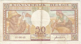 Bélgica - Belgium 50 Francs 1-6-1948 Pk 133 A Firma Van Heurck Ref 12 - Otros