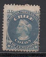 1867-68  Yvert Nº 14 MH - Chile
