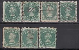 1867-68  Yvert Nº 15 - Chile