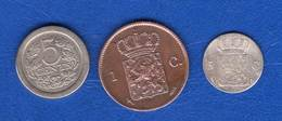 Pays  Bas  3  Pieces - 1815-1840 : Willem I