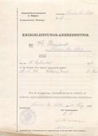 MAUBEUGE KOMMANDANTUR OCCUPATION ALLEMANDE GOUVERMENT DE BELGIQUE LAISSER-PASSER FERRIERE-LA-PETITE - Maubeuge
