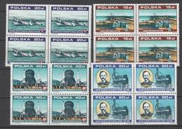 Poland 1988 Polen Mi3158+3162+3164+3177 X4 70 Years Independent Republic. Locomotive. Aircraft / Dampflokomotive **/MNH - Trains
