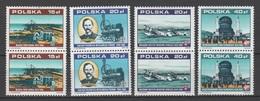 Poland 1988 Polen Mi3158+3162+3164+3177 X4 70 Years Independent Republic. Locomotive. Aircraft / Flugzeug **/MNH - Avions