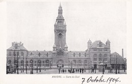 ANVERS. GARE DU SUD. CPA CIRCA 1904 - BLEUP - Antwerpen