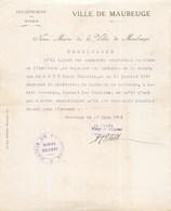"""MAUBEUGE COLLABORATION OCCUPATION ALLEMANDE LINIERES """" N'A PAS TRAVAIILLE AVEC L'ENNEMI """" GUERRE 40 - 1939-45"""
