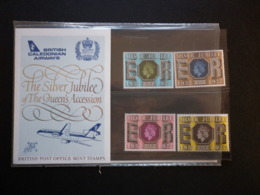 GREAT BRITAIN [UK] SG 1033 SILVER JUBILEE SOUVINER PRESENTATION PACK BRITISH CALEDONIAN AIRWAYS - Booklets