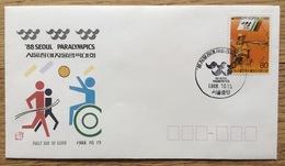 Coree Du Sud / South Korea 1988, FDC: Olympic Games Seoul Paralympics Archery Disabled - Estate 1988: Seul