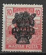 UNGHERIA  1919 SOPRASTAMPATI YVERT. 269 MNH XF SENZA GOMMA - Usati