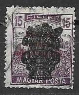 UNGHERIA  1919 SOPRASTAMPATI YVERT. 270 USATO VF - Ungheria
