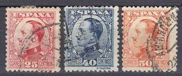 ESPAÑA - SPAGNA - SPAIN - ESPAGNE - 1930/1931 - Lotto Di 3 Valori Usati: Yvert 409, 410 E 411. - 1889-1931 Regno: Alfonso XIII