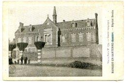 80134 HANGEST EN SANTERRE - Hôpital Brulin - Guerre 1914-1915 - Carte Imprimée En Typographie - Autres Communes