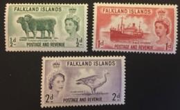 Falkland  - MH* - 1956/1957 - # 122/124 - Falkland