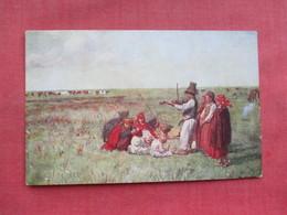 Polish---- Playing Violin In Field    -  Ref 3319 - Europe