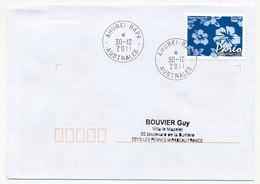 """POLYNESIE FRANCAISE - Enveloppe Affr. Pareo Oblitéré """"AHUREI-RAPA  AUSTRALES"""" 30-12-2011 - Lettres & Documents"""