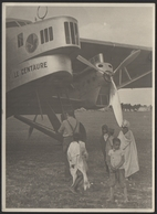 POSTE AERIENNE Photo Argentique 1935 Le Centaure Escale Avion Postal Transatlantique Air France Farman 221 - Aviación