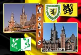 Postcard, REPRODUCTION, Municipalities Of Belgium, Eeklo - Duplex 2 - Cartes Géographiques