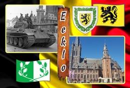 Postcard, REPRODUCTION, Municipalities Of Belgium, Eeklo - Duplex 5 - Cartes Géographiques