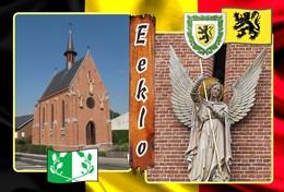 Postcard, REPRODUCTION, Municipalities Of Belgium, Eeklo - Duplex 7 - Cartes Géographiques