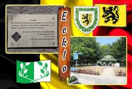 Postcard, REPRODUCTION, Municipalities Of Belgium, Eeklo - Duplex 11 - Cartes Géographiques