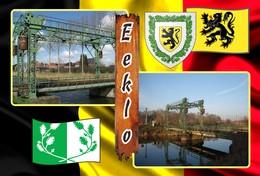 Postcard, REPRODUCTION, Municipalities Of Belgium, Eeklo - Duplex 13 - Cartes Géographiques