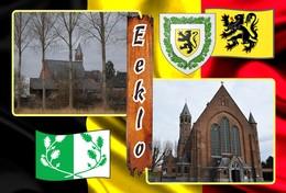 Postcard, REPRODUCTION, Municipalities Of Belgium, Eeklo - Duplex 14 - Cartes Géographiques