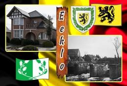 Postcard, REPRODUCTION, Municipalities Of Belgium, Eeklo - Duplex 18 - Cartes Géographiques