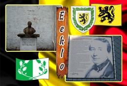 Postcard, REPRODUCTION, Municipalities Of Belgium, Eeklo - Duplex 20 - Cartes Géographiques