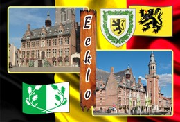Postcard, REPRODUCTION, Municipalities Of Belgium, Eeklo - Duplex 32 - Cartes Géographiques