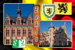 Postcard, REPRODUCTION, Municipalities Of Belgium, Eeklo - Duplex 33 - Cartes Géographiques