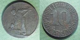 ALLEMAGNE 1918 KRIEGSGELD Stadt Frankentahl 10 Pfenig Monnaie De Nécessité En Acier 20 000 Ex. - Noodgeld