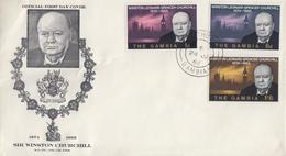 Enveloppe  FDC  1er  Jour   GAMBIE    Sir   Winston  CHURCHILL    1966 - Sir Winston Churchill
