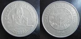 CANADA -Token-Calgary Stampede Dollar-1979-Copper-Nickel-Jeton-Solar Salute - Monétaires / De Nécessité