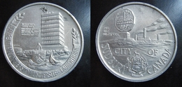 CANADA Sudbury-Université Laurentienne-Big Nickel Token-39 Mm-Jeton-Aluminium - Noodgeld