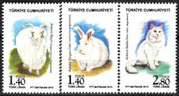 TURKEY 2015, DOMESTIC ANIMALS, ARIES, RABBIT, CAT, MNH SET (MiNo 4231/33) In GOOD QUALITY, *** - Nuevos