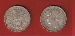 Belgique  -  5 Francs 1865  -  état  TTB+ -  Petits Coups Tranche - 11. 5 Francs