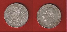 Belgique -  5 Francs 1850 --  état  TTB+   -   Petits Coups Tranche - 1831-1865: Léopold I