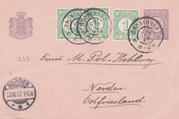 Niederlande: 1897: Groningen Nach Norden - Ganzsache - Niederlande